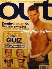OUT Magazine 7/05 gay Denim Fever hot fashion and pics