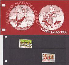 Isla de man Presentación Pack 1983 Navidad de 10% de descuento de CUALQUIER 5+