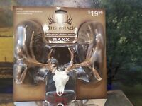 2 Big Rack Whitetail Skull Figurines Miniature Trophy Mount Free shipping in USA