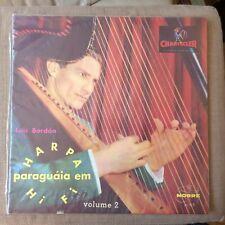 LUIS BORDEN - ARPA PARAGUAYA VOLUME 2 EX/EX++ VINYL LP - BRAZIL CHANTECLER RARE