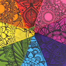 Snazzy Tattoo Bunting Mandala Inspired Nice and Bright 2m Long