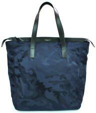 Michael Kors Mens Kent Nylon Navy Blue Camouflage Travel Bag Large RRP £260