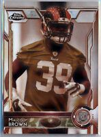 MALCOLM BROWN  = 2015 Topps Chrome Rookie SEPIA Refractor /99 - Rams RC