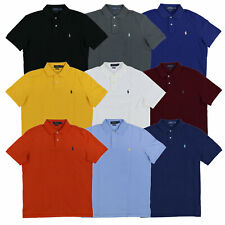 Polo Ralph Lauren masculina ajuste clássico Camisa Polo Malha logotipo do pônei Nova P M G GG GGG Nova com etiquetas
