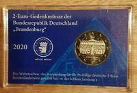 coincard 2 euro commémorative ALLEMAGNE 2020 Brandenburg officiel