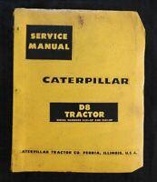 1959 CATERPILLAR D8 D 8 CRAWLER TRACTOR SERVICE REPAIR MANUAL SER. #14A1 15A1 UP