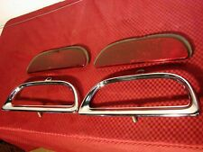 60 FORD STARLINER SUNLINER GALAXIE NOS BUMPER TAIL LIGHT REFLECTOR CHROME BEZEL