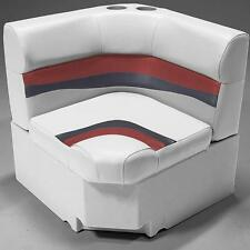 """28"""" Corner Pontoon Furniture Seat In Gray, Red and Charcoal"""