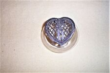 Metzke Pewter Heart Potpourri Lid Clear Glass Jar 1989
