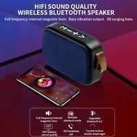 Portable Wireless Bluetooth 4.2 Speaker Bass Stereo Radio HIFI FM TF AUX USB