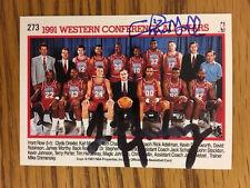 Tim Hardaway & Chris Mullin Autograph 1991-92 NBA Hoops #273 Signed Warriors