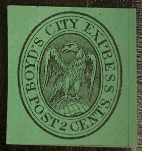 L3/22 US Local Post Stamp Sc20L14 Boyd's City Express Post Unused NHNG V. Fresh