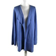 Talbots Size 3X Open Duster Cardigan Sweater Chunky Knit Blue