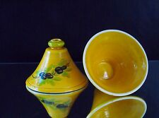 Designer Bell Shape Candle Holders Large Yellow Olive Branch Home Interior Decor