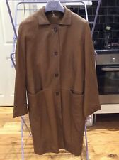 Maxfield Parrish Brown Leather Trench Coat