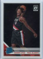 2019-20 Donruss Optic Basketball Nassir Little RATED ROOKIE Card #154 Portland
