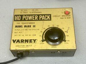 VARNEY MARK III HO TRAIN POWER PACK  14V DC, 16V AC tested good