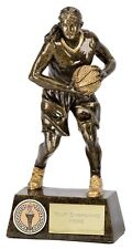 A1254A Resin Female Basketball Trophy Size 15.25cm Engraving