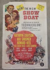 Showboat. Original One Sheet Movie Poster. 1951