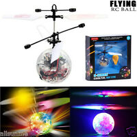 Flying RC Ball Infrared Induction Mini Aircraft Flashing Light Remote Toys Gift