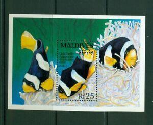 Maldive Islands  #1869 (1993 Fish sheet) VFMNH CV $6.00