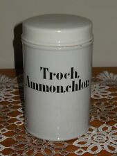 ANTIQUE FRENCH PORCELAIN APOTHECARY PHARMACY STORAGE JAR : Troch. Ammon.chlor.