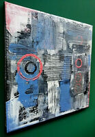 Quadro moderno tecnica mista su tela firmato a mano Stefano Fiore - arte moderna