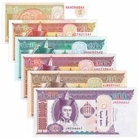 9PCS Mongolia 10-100 MNT Banknote UNC Asia Paper Money P-NEW