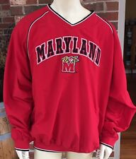 Colosseum Athletics Mens 2XL Maryland Terrapins Red Pullover V Neck Jacket NWT