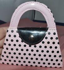 Purse Handbag Style 4pc Manicure Kit Pink and Black