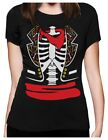 Day of The Dead Halloween Mexican Skeleton Costume Women T-Shirt Dia de los