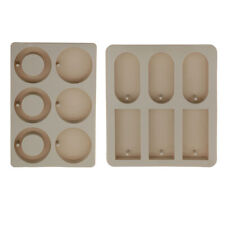 2pcs Round Rectangle Aroma Wax Dried Flowers Epoxy Soap Silicone Mold Moulds