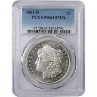 1881 O Morgan Dollar MS 63 DMPL PCGS 90% Silver $1 US Coin Collectible