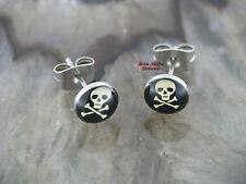 1 pares Fake piercing Plug calavera Skull 1 pair ear Plug pendientes arete
