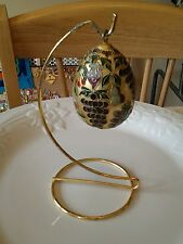 Gold Painted Egg With Stand