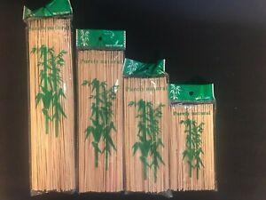 Bamboo Skewers Sticks 100 pcs For BBQ Kebab Fruit Wooden Sticks 15,20,25 & 30cm