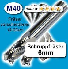 Schruppfräser 6mm Z=4 für Edelstahl Alu Messing Kunstst. M40 hochlegiert