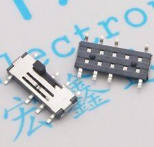 10PCS MSS23C02 Toggle Switch Power Switch Pull Switch 3 Files 8 Feet 2P3T SMD 8P