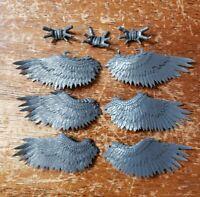 Warhammer 40k Dark Eldar Drukhari Bits: Scourge Feathered Wings x3 Set