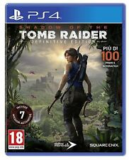 SHADOW OF THE TOMB RAIDER - DEFINITIVE COMPLETE EDITION PS4 GIOCO ITALIANO NUOVO