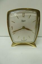 URGOS BEDSIDE TABLE CLOCK MADE IN GERMANY WIND UP BRASS ART DECO