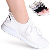 Damen Plateau Sneaker Fitness Turnschuhe Leicht Bequem