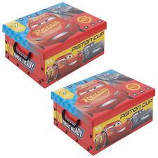 Set da 2 Disney macchine cartone Scatole di immagazzinaggio con Coperchi