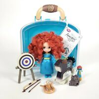 MERIDA BRAVE Disney Animators Collection mini doll playset Merida and Angus