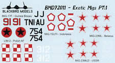 Exotic MiG's 1/72nd scale decals