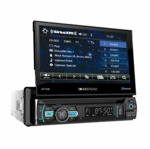 "Soundstream 1 Din Audiopipe  DVD/CD Player 7"" Flip Up Bluetooth USB AUX SiriusXM"