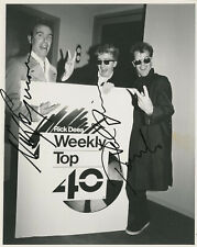 Vintage 8x10 c1987 Signed by Crowded House, all 3 founders Neal, Nick & Paul