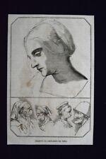 Volti disegnati da Leonardo da Vinci Incisione del 1868