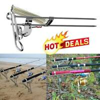 Spring Fishing Rod Holder Automatically Pulls Back Fish Supplies When Detect New