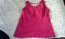 Womens Teen Athletic Top Workout C cup Fuschia ROADRUNNER SPORTS Lined spandex